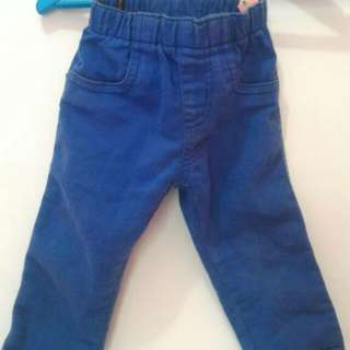 Blue Long Pants Edisi Cuci Gudang