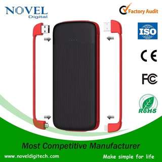 Certified Dual Built-in Cable Powerbank