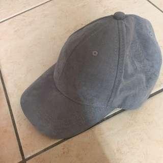麡皮灰色棒球帽子