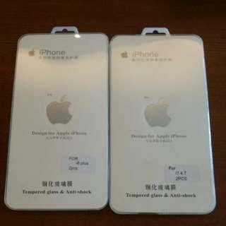 Iphone 6+ Or Iphone 7 玻璃貼2張