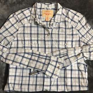 Levi's Plaid Button Up Shirt
