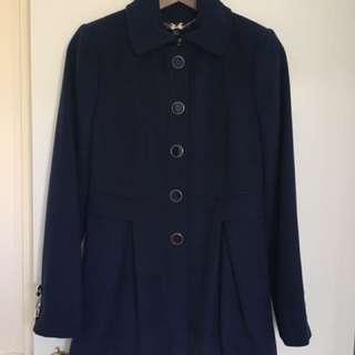 Forever New Coat Navy Blue