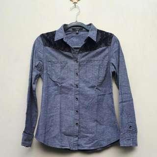Papaya Denim Studded Shirt