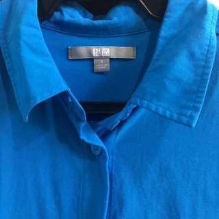 Uniqlo Rayon Long Sleeve Blouse