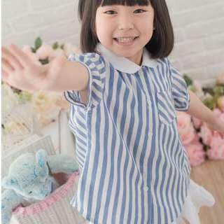 🚚 質感白領藍條紋襯衫