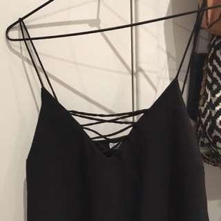 black criss cross top