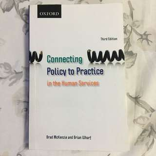 Connecting Policy To Practice In Human Services 3rd Edition By McKenzie & Wharf