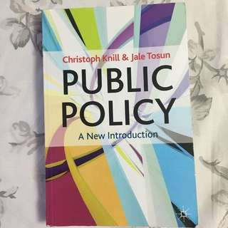 Public Policy: A New Introduction By Knill & Tosun