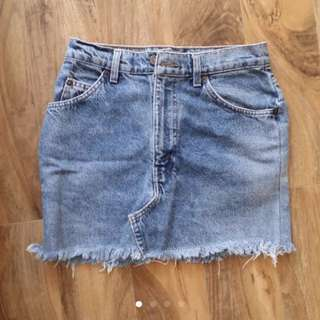Levis Denim Skirt Vintage