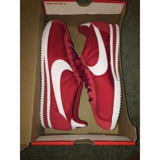 RED NIKE CORTEZ NYLON