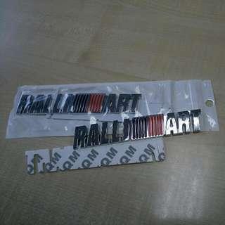 Stiker Ralliart 3d Aluminium Emblem (A)