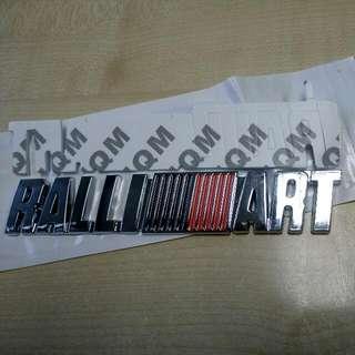 Stiker Ralliart Aluminium 3d Tail Emblem (B)