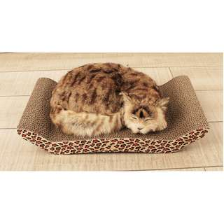 BRIDGE STYLE CORRUGATED SCRATCHING BOARD FOR CATS AND KITTEN, CATNIP INCLUDED