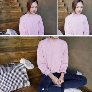 Pastel Pink Pullover Ulzzang