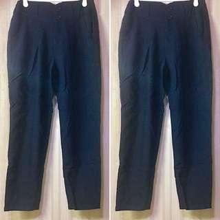 RE:EDIT/GALSTAR: Simple Smart Causal Black Pants