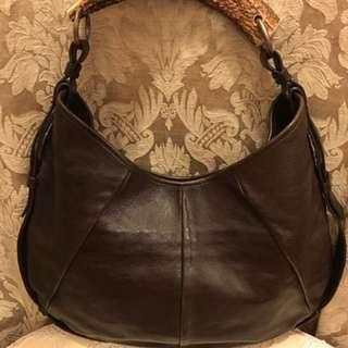 Ysl Brown Leather Handbag