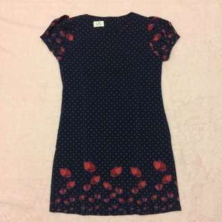 navy flower dress