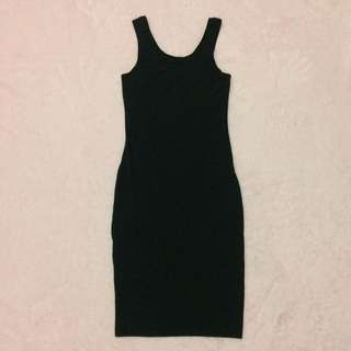 cotton on black dress (stretch)