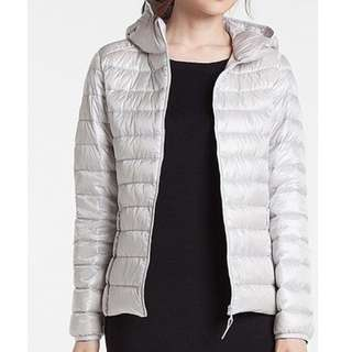 Uniqlo Ultra-light down Jacket with hood.