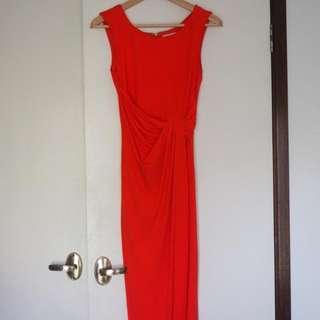 Coral Maxi Formal Dress