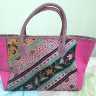 Tote Bag Batik Pink