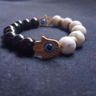 Yin And Yang Hamsa Bracelet