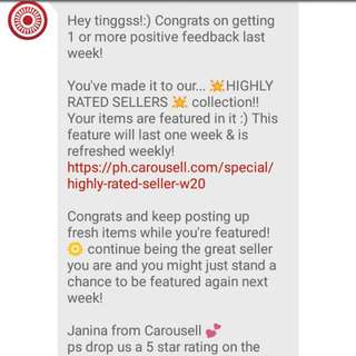 Yey!!! Thank You Carousell❤❤