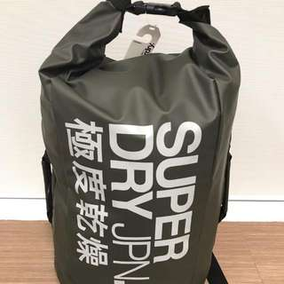 SuperDry Roll-Top Scuba Backpack Green/Silver