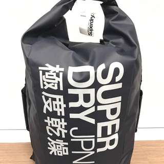 SuperDry Roll-Top Scuba Backpack Blue/Silver