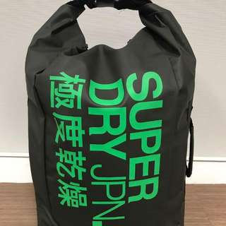 SuperDry Roll-Top Scuba Backpack Green/Neon Green