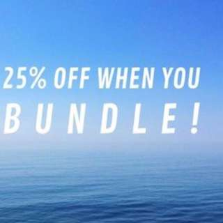 Buy Any 2 Items Or More And Receive 25% Off