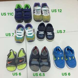7 Pairs Of Kids Shoes