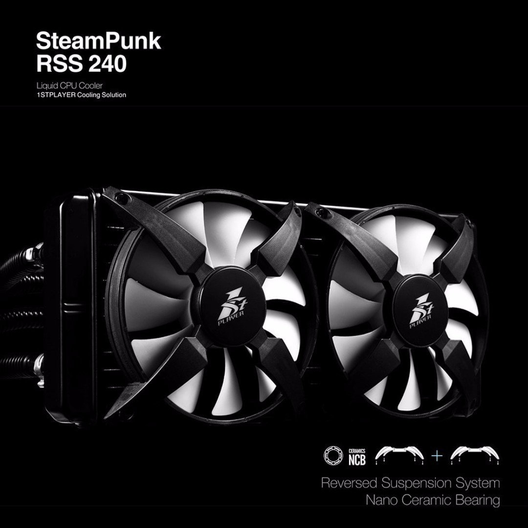 1STPLAYER STEAMPUNK AIO Liquid CPU Cooling System-RSS