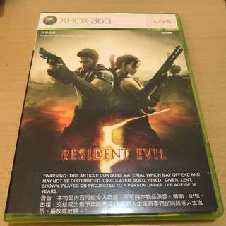 Xbox 360 Resident Evil 5 生化危機