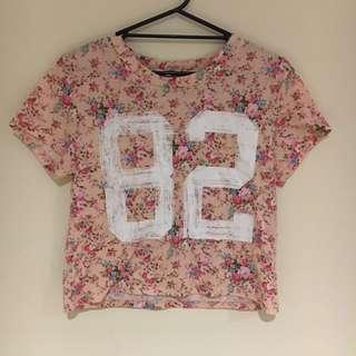 Valleygirl Pink Floral T Shirt