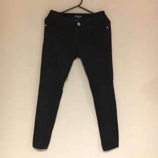 Black Denim Jeans Pants Valleygirl Size 10