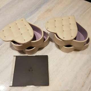 Kotak Perhiasan 2 Tingkat (2 Pcs)
