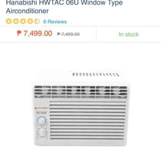 RUSH Hanabishi window Type Aircon .6 HP