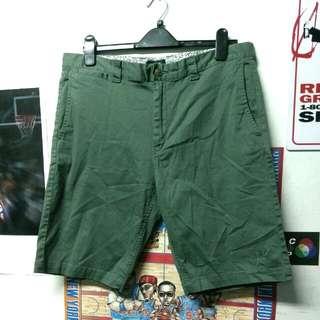 HUF 軍綠色 五分工作褲