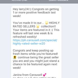 Highly Rated Sellers