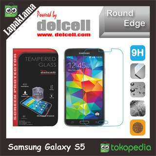 Tempered Glass Delcell Bening Samsung Galaxy S5 Screen Guard Protector
