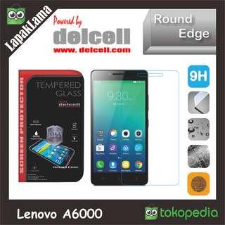 Tempered Glass Delcell Bening Lenovo A6000 Screen Guard Protector Kaca