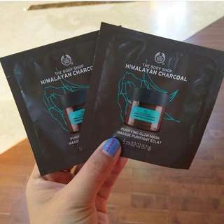 Sale The Body Shop Charcoal Mask Sample Size
