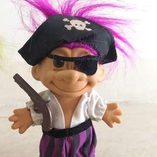 Troll Doll Pirate VINTAGE RARE