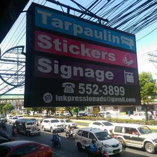 Tarpaulin Large Format Print, Stickers Outdoor, Calling Card And More