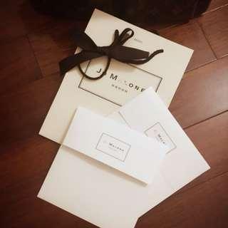 Jo Malone提袋 附緞帶及兩張經典卡片