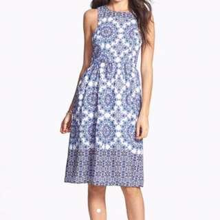 Everly Blue printed Dress
