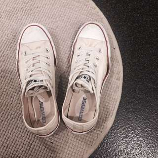 Vintage Cream Converse Canvas Sneakers