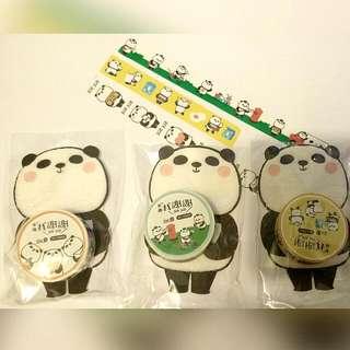 台灣熊貓系列紙膠帶