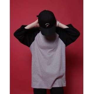 黑灰薄款七分長袖